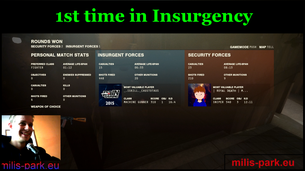 1st time in Insurgency